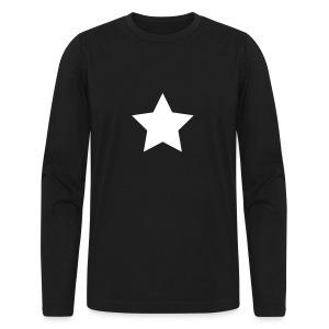 Jon Oz Star Shirt - Men's Long Sleeve T-Shirt by Next Level