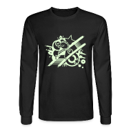 Long Sleeve Shirts ~ Men's Long Sleeve T-Shirt ~ Charles GLOW on long-sleeve black