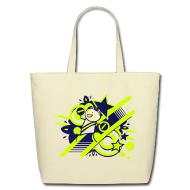 Bags & backpacks ~ Eco-Friendly Cotton Tote ~ Charles the Raver cotton tote bag