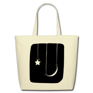 Moon and Star Tote - Eco-Friendly Cotton Tote