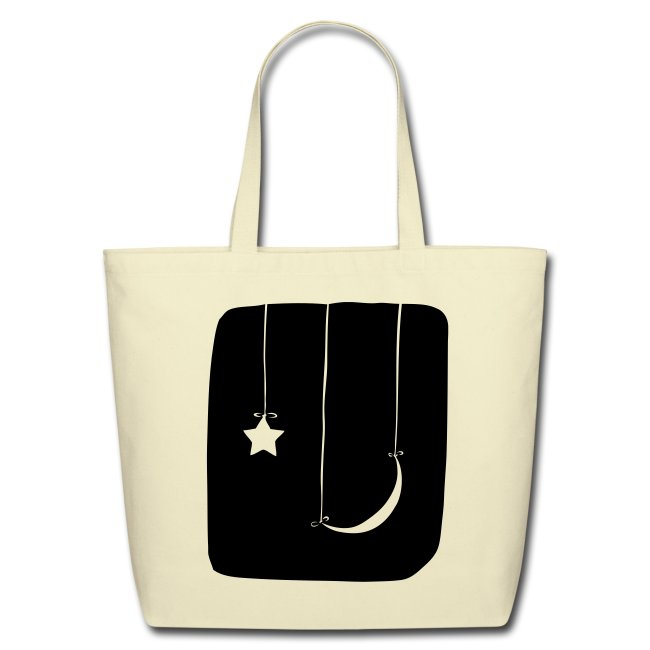 Moon and Star Tote