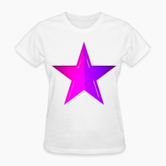 White Pink and Purle Star Women