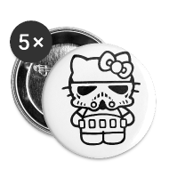 Buttons ~ Small Buttons ~ Stormtrooper Kitty Buttons