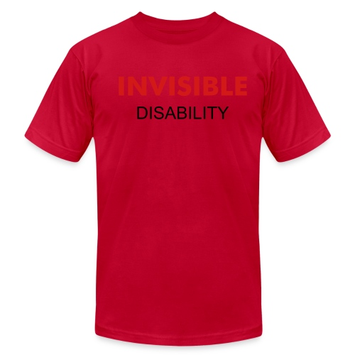 INVISIBLE RED - Men's Fine Jersey T-Shirt