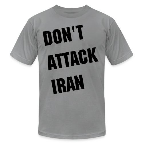 don't attack iran - Men's  Jersey T-Shirt
