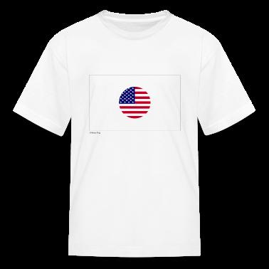 White Japan USA Mixed Flag Kids Shirts