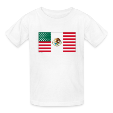 White Mexico USA Kids Shirts