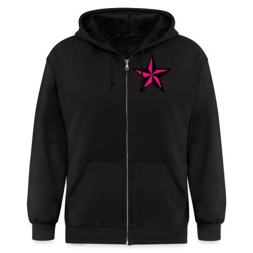 dj dirtylou nautical star - Men's Zip Hoodie