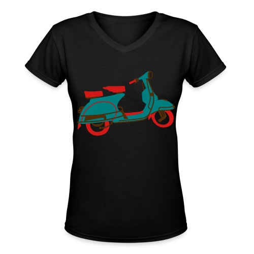 Big Scooter - Women's V-Neck T-Shirt