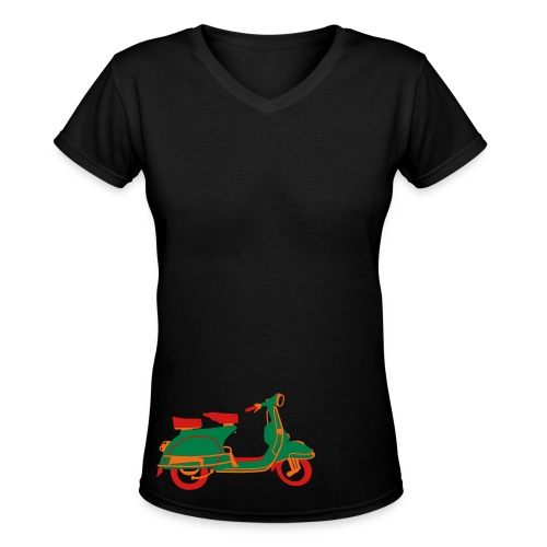 Little Scooter - Women's V-Neck T-Shirt