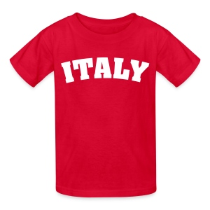 Kids Italy, Red - Kids' T-Shirt