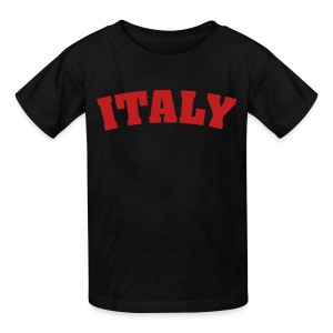 Kids Italy, Black - Kids' T-Shirt