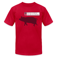 T-Shirts ~ Men's T-Shirt by American Apparel ~ Pig Butchering Guide - Jersey - 2013 SALE!