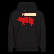Hoodies ~ Men's Hoodie ~ Pig Butchering Guide - Hoodie - 2013 SALE!