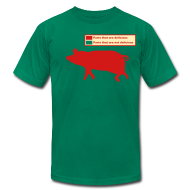 T-Shirts ~ Men's T-Shirt by American Apparel ~ Pig Butchering Guide - Brown Jersey - 2013 SALE!