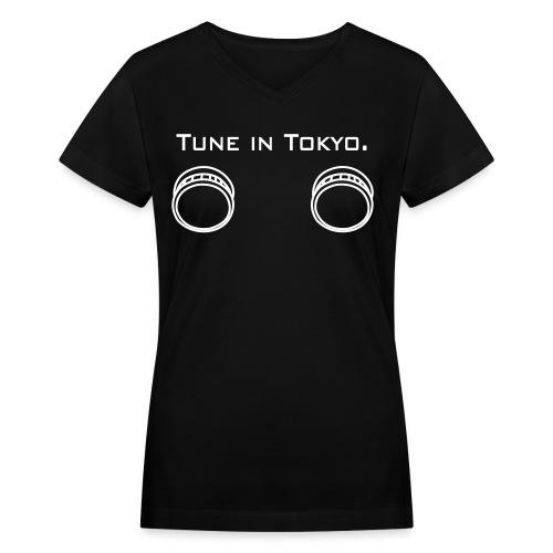 Tune in Tokyo - Women's V-Neck T-Shirt