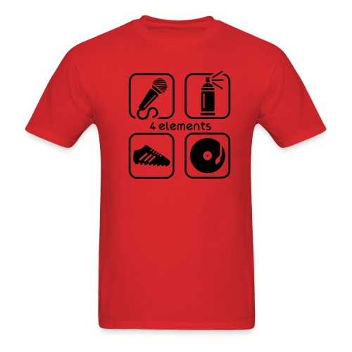 Hip-Hop Elements (Red) - Men's T-Shirt