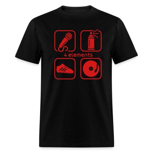 Hip-Hop Elements (Black) - Men's T-Shirt