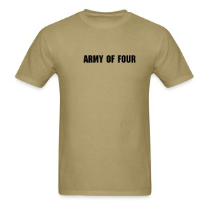 Army Of Four Khaki T-Fur - Men's T-Shirt