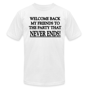 Party Qoute Male BW - Men's T-Shirt by American Apparel