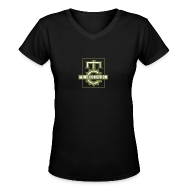 T-Shirts ~ Women's V-Neck T-Shirt ~ Official MC Brand Gold