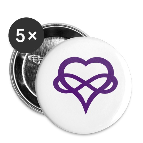 Polyamory Buttons - Buttons small 1'' (5-pack)