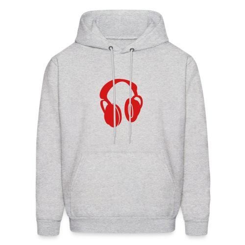 Headphones - Red - Men's Hoodie
