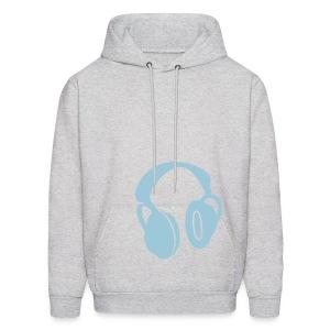 Headphones - Blue - Men's Hoodie