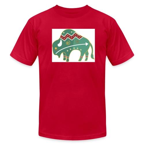 Spirit Buffalo - Large - Men's Fine Jersey T-Shirt