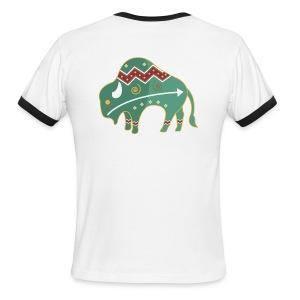 Spirit Buffalo - Large - Men's Ringer T-Shirt