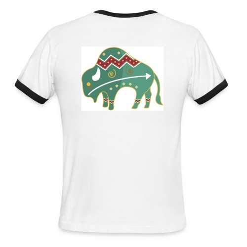 Spirit Buffalo - Large - Men's Ringer T-Shirt