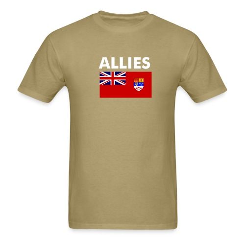 Allied t-shirt Enlisted & NCO (light) - Men's T-Shirt
