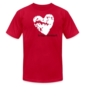 Men's Rugged Heart Tee - Men's T-Shirt by American Apparel
