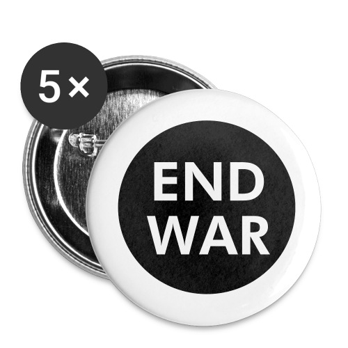 End War Button - Buttons large 2.2'' (5-pack)