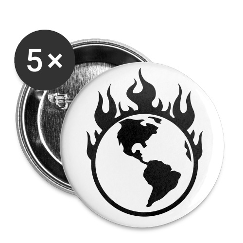 Global Warming button - Buttons large 2.2'' (5-pack)