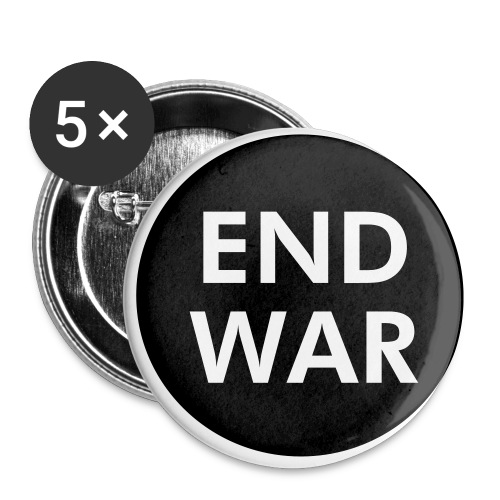 End War Button - Buttons small 1'' (5-pack)