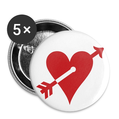 Arrow n Heart Button - Buttons small 1'' (5-pack)