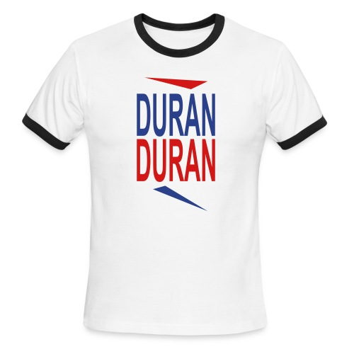White/red DuranD uran Men - Men's Ringer T-Shirt