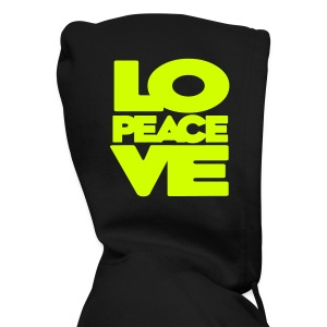 Peace. Love. - Men's Zip Hoodie