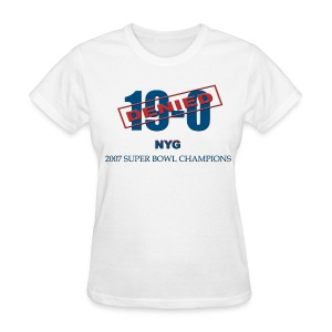 19-0 Denied New York Giants Champions Women's T - Women's T-Shirt