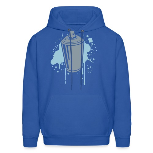 Men's Hoodie - spray paint,paint,hoodie,graffiti,can,blue