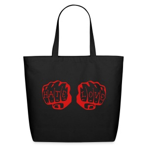 FIST OF LOVE AND HATE by VAN TRIBE  - Eco-Friendly Cotton Tote