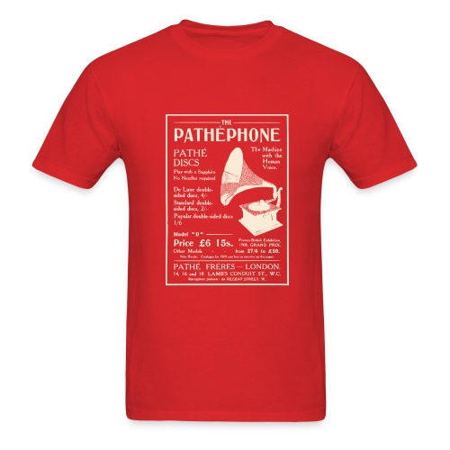 Pathephone Record Player (Various Clrs) - Men's T-Shirt