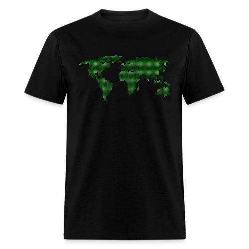 Dot Matrix World - Men's T-Shirt