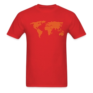 Dot Matrix World - Men's T-Shirt