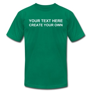 CREATE YOUR OWN MEN'S JERSEY TEE- IZATRINI.com - Men's T-Shirt by American Apparel