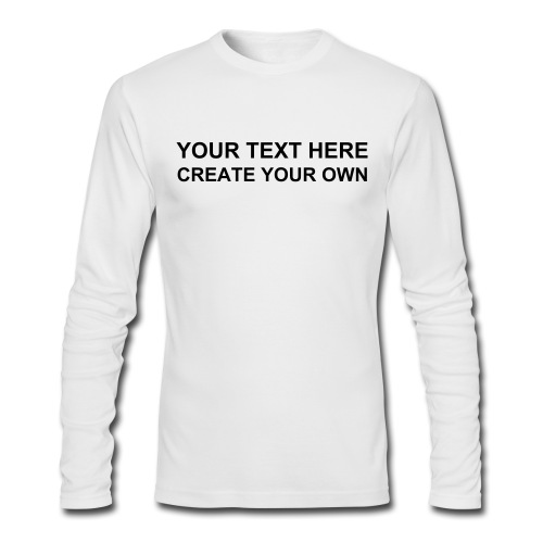 Create your own fitted longsleeve tee t for Create your own t shirt store online