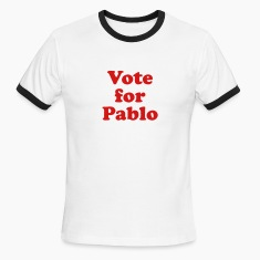 White/black Vote for Pablo Men