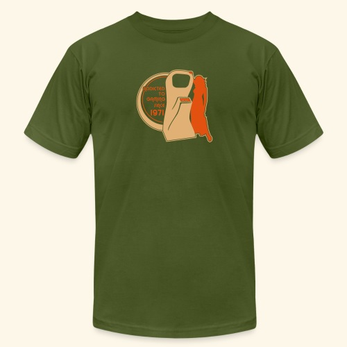 Addicted to gaming since 1971 - Men's Fine Jersey T-Shirt