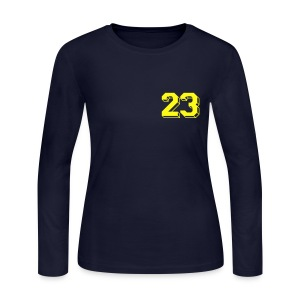 Women's Long Sleeve Navy Tee - Women's Long Sleeve Jersey T-Shirt